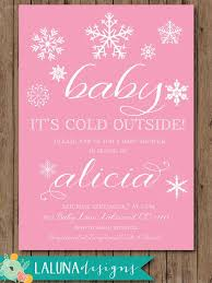 Snowflake Baby Shower Invitations Winter Baby Shower Invitation Baby Its Cold Outside Snowflake