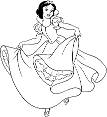 Small Picture Great Snow White Coloring Page 13 About Remodel Line Drawings with