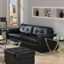 Modern Living Rooms Furniture Furniture Black Leather Sofa And Chair With Red And White Accent