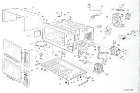 sharp microwave parts. a breakdown of newer counter style microwave sharp parts p