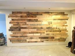 wood accent wall by home pallet bedroom