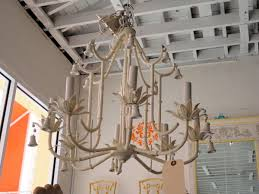 metal faux bamboo paa chandelier