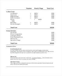 Invoice Template For Photographers Sample Catering Quote Template Catering In Event Event