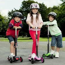 самокат 21st детский scooter maxi зеленый голубой