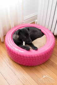 DIY Dog Bed From A Recycled Tire