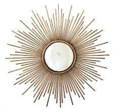 gold sunburst mirror. La Villette Antique Gold Hollywood Regency Sunburst Mirror | Kathy Kuo Home S