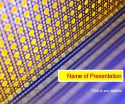 Blue And Gold Powerpoint Template Blue Background And Gold Circles Template For Presentation