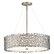 modern drum pendant lighting with kichler 43347clp silver c modern classic pewter finish 22 modern