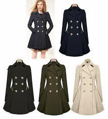 Women <b>Slim</b> Double Breasted Trench Coat Autumn Warm <b>Outwear</b> ...