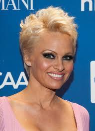 Pamela Anderson Pixie Cut Pamela Anderson At Help Haiti Gala