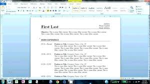 How To Make A Resume On Word How To Make A Resume In Ms Word How To