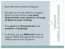 the argumentative essay an introduction to oh the possibilities  know the eleven forms of support