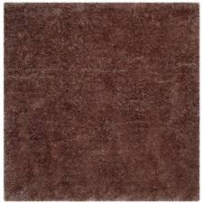 safavieh luxe shag taupe  ft x  ft square area rugsgxdsq