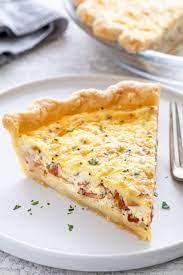 quiche lorraine with homemade pie crust
