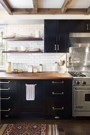 Plain Black Kitchen Cabinets With White Tile Countertops Rustic On Simple Ideas
