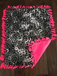 Best 25+ Tie blankets ideas on Pinterest   No sew blankets, No sew ... & Baby Tie Blanket-Cheetah Black/White Print with by TheBobbinJar Adamdwight.com
