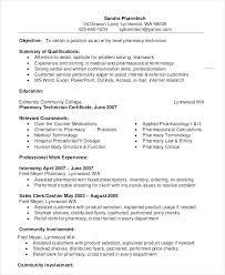 Pharmacy Technician Resume Objective Sample Pharmacy Technician Resumes Pharmacy Technician Resume 36