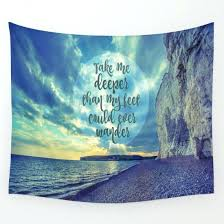 Wander Quotes Amazing Tapestries With Quotes Beach Tapestry Sky Not All Those Who Wander