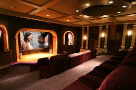 home theater ceiling lighting. Perfect Theater Grundy Center Theater Contemporary Home Also Ceiling Lighting  Coffered Recessed Reclining Intended