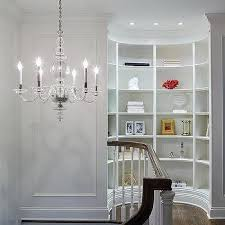second floor landing with curved bookcase nook