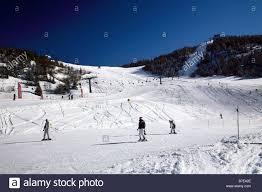 Piste da sci Monte Bondone, Trentino Alto Adige, Italia Foto stock - Alamy