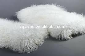 hot ing actual fur blanket long hair lamb skin in from home garden on group mongolian