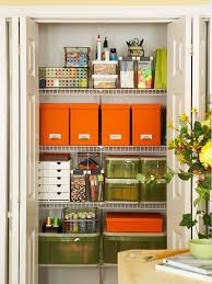 home office in a closet. Home Office Closet Organization In A