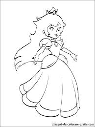 Disegno Di Principessa Peach Da Colorare Disegni Da Colorare Gratis