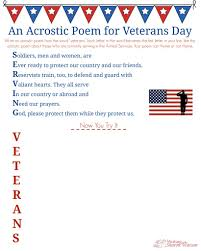 veterans day acrostic poem middle school writing prompt veterans day