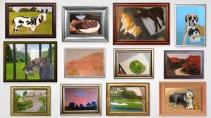 a watermelon a golf course a horse and monstrous dogs 12 new paintings from george w bush