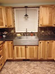 kitchen lighting over sink. Dear Lillie Kitchen With Roman Blinds And Oak Cabinets Plus Pendant Lighting Over Sink