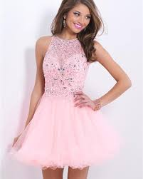 Light Pink Short Tight Dress Us 104 71 12 Off Luxury Crystal Pink Short Tight Homecoming Dresses Vestido Curto 2016 A Line Tulle Homecoming Dress Beaded Formal Party Gown In