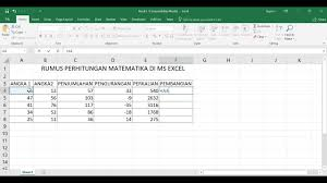 Rumus terakhir yang harus kamu ketahui dalam microsoft excel adalah rumus proper. Rumus Perhitungan Di Ms Excel Youtube