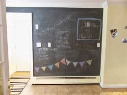 Kitchen Chalkboard Wall Kates Survival Guide My New Chalkboard Wall And Magnet Board