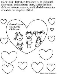 Jesus Loves The Little Children Coloring Page Kids Primary