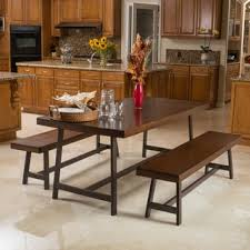 three piece dining set: marion wood  piece picnic dining set by christopher knight home