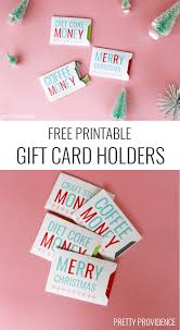 christmas gift card sleeves printable christmas gift card holders printable