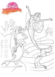 Small Picture Barbie Mermaid Coloring Pages Coloring Home