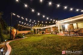 Backyard Wedding Reception Amber Uplights & Market Lights
