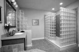 ceramic tile designs for bathrooms. Glass Cube Tile Bathroom Shower Wall Combined With Grey Ceramic Tiles Floor In Designs For Bathrooms D