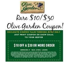 olive garden printable