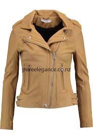 xn79122 iro popular biker jackets camel women s leather biker jacket