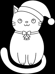 21 Christmas Cat Coloring Pages Christmas Cat Coloring Page Free