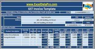 Xcel Download Gst Templates In Excel Archives Exceldatapro