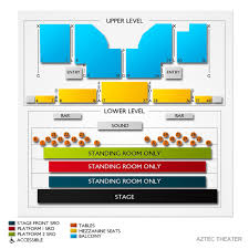 Aztec Theatre 2019 Seating Chart