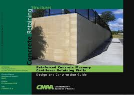 Small Picture Reinforced concrete masonry cantilever reaining walls