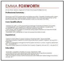 Simple Cv Examples Uk Simple Cv Example Myperfectcv