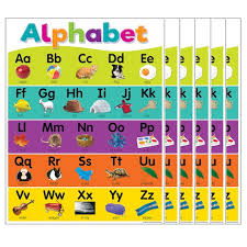 Alphabet Chart With Pictures Teacher Created Resources Alphabet Chart 6ct