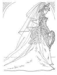 Small Picture fashion coloring pages COLORING PAGES WEDDING DAY BARBIE IN