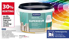 Gamma Promotie Gamma Superieur Van De Verfmeng Service Gamma